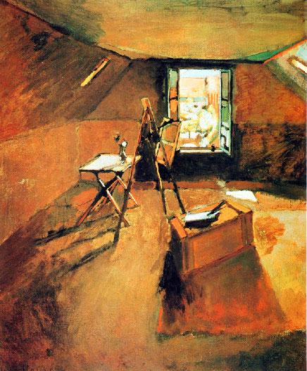 """H. Matisse, """"Atelier sous les toits"""" (1903)"""