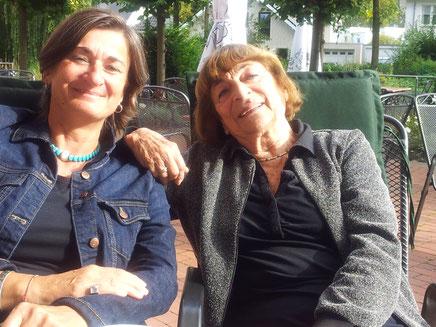 Mit der Shoah-Überlebenden Greta Klingsberg