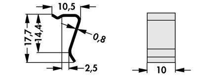 THFU2 Fischer Elektronik トランジスタ固定用スプリング