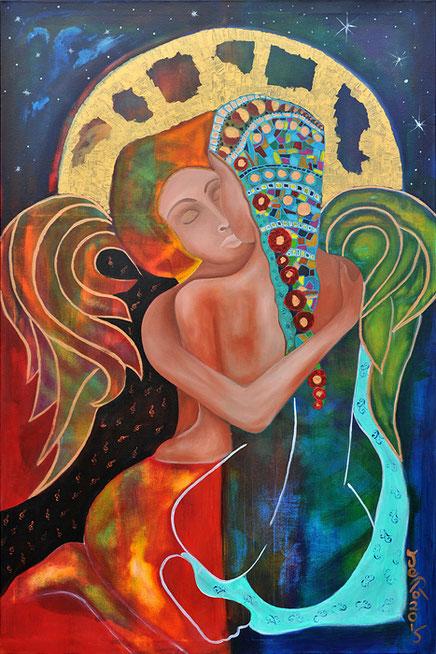 wir werden jeden Tag vom Leben neu geküsst, Ein Engel küsst ein Mädchen um Sie zu beschützen