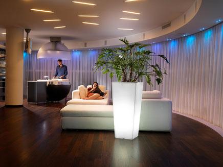 Lyxo Vase mit LED Beleuchtung