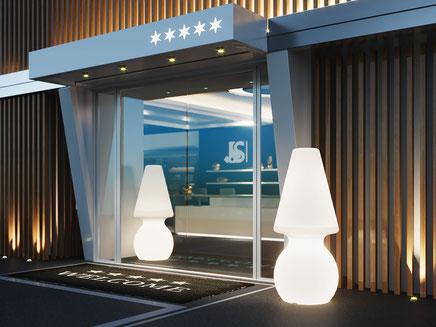 Lyxo stehlampe für hotel mit led licht