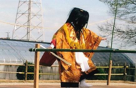 古墳祭の神楽舞の写真です。