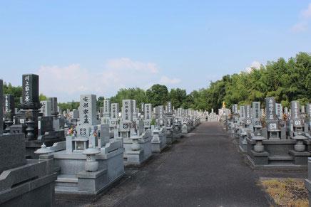 龍音寺霊園のお墓の写真です。