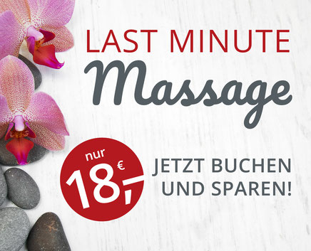 Last Minute Massage Angebot