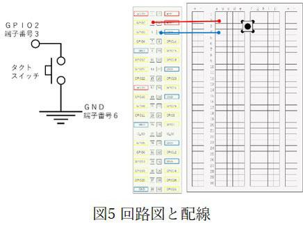 スイッチモニタのための回路図と配線図です。