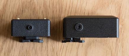 The Cameractive V102 light meter in comparison with the KEKS EM-01.  Photo: bonnescape.de