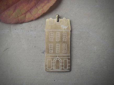 パリの暮らし 真鍮ペンダント ブローチ