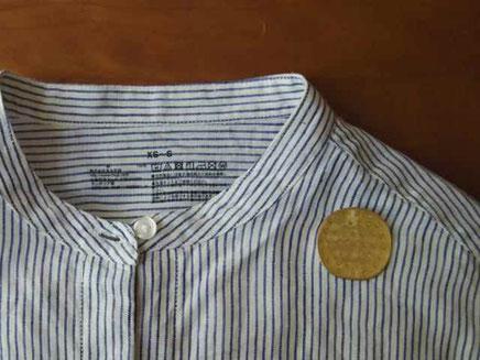 ころんころん oval round brooch/design©marguerite label