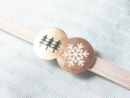 雪と森 帯留め design©︎Marguerite Label