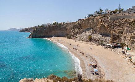 Playa Bol Nou, Villajoyosa, Comunidad Valenciana españa España.