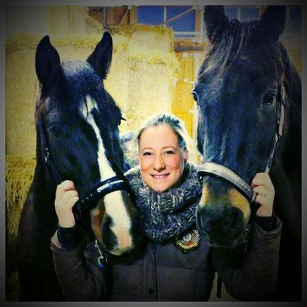 Meine beiden Pferde und ich - Caruso (geb. 2013) & Countdown (geb. 1988)