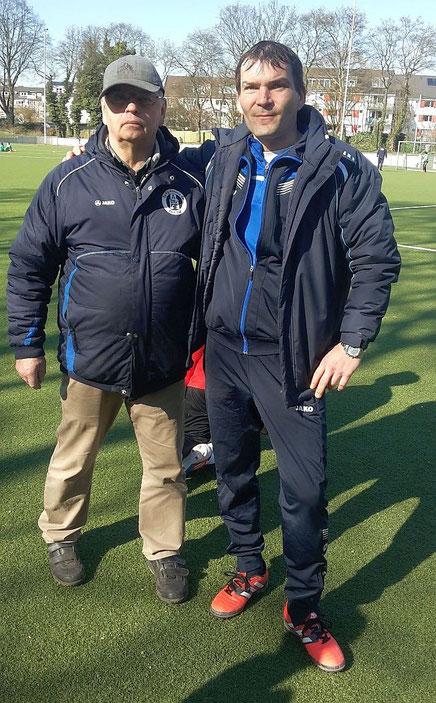 Die Trainer Wilfried Kura und Marcel Ernigkeit
