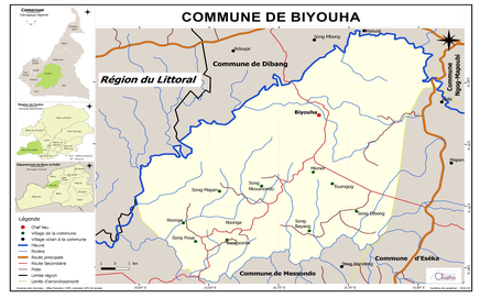 Plan de localisation de la Commune de Biyouha