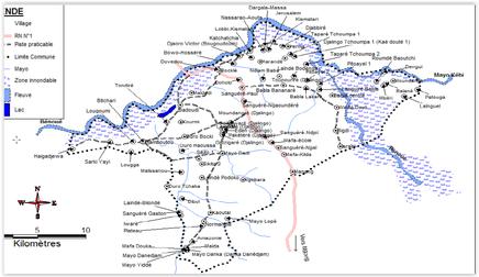 Plan des villages et quartiers de Garoua 3ème