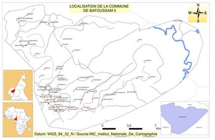 Plan de localisation de la Commune de Bafoussam 2ème