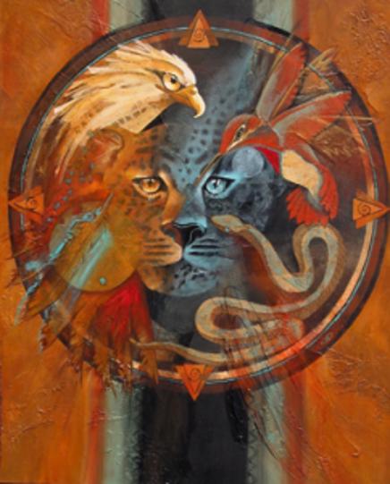 Les 4 archétypes du Munay Ki : serpent, jaguar, colibri, aigle