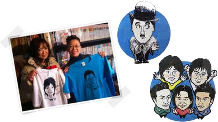 氷見昭和館 似顔絵コーナー 似顔絵制作実績 柴田理恵さんと清水ミチコさん