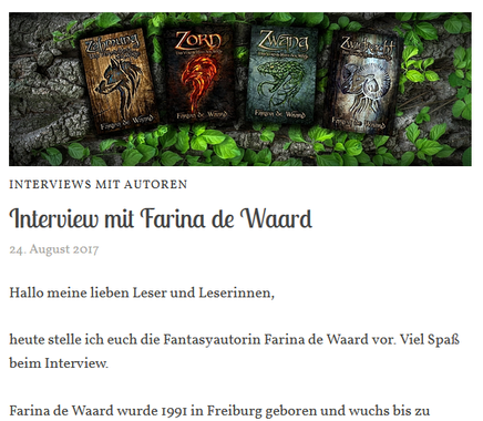 Interview mit Farina de Waard