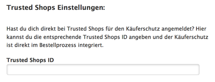Das Trusted Shop Siegel