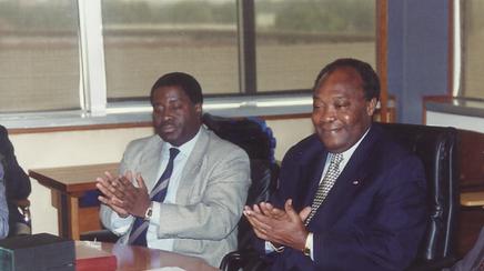 Le DG Tchouta Moussa et André Priso, DGA chérgé des études