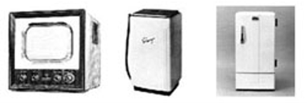 S35テレビ58,000円 S32洗濯機23,000円 S32冷蔵庫58,000円 S35 初任給 上級(大卒)10,800円 中級(短大)8400円 初級(高卒)7,400円