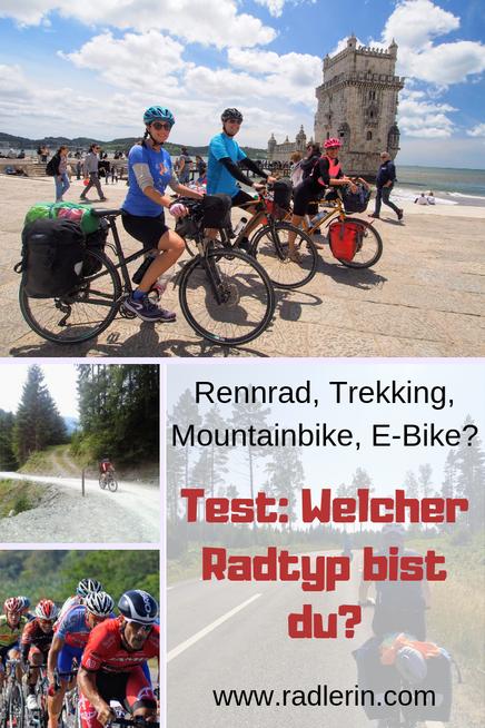 Rennrad, Trekking, Mountainbike, E-Bike. Test: Welcher Radtyp bist du?