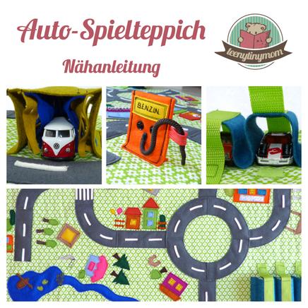 Autoteppich, Spielteppich, Straßenteppich, Nähanleitung, Kleinkind