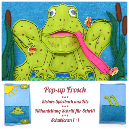 Ein Kleiner Pop Up Frosch Teenytinymom Spielbücher Quiet Books