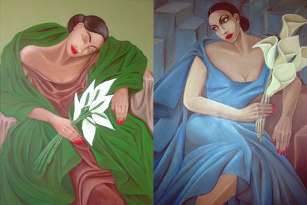 Else Hardjopawiro is ook een getalenteerd kunstenares. Dat blijkt bijvoorbeeld uit deze prachtige werken van krachtige vrouwen.