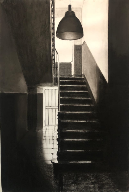 Gallery Mokum The Female Gace. Charcoal stairs #1 - Judith Ansems