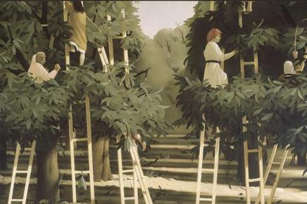 De Oogst van Pyke Koch, bekend schilder van het magisch realisme