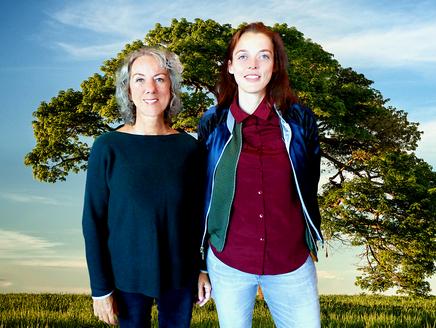Vlnr : Sarah Jens en Anna Fernhout