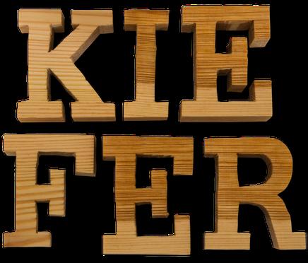 Holzbuchstaben Kiefer
