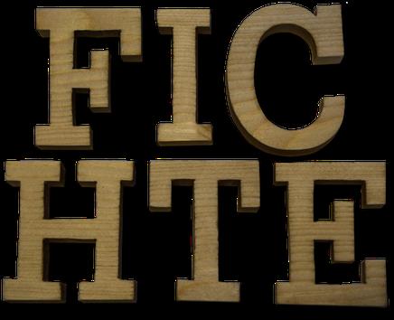 Holzbuchstaben Fichte