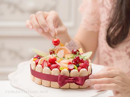 クレイフルーツケーキかわいい素敵習い事大人の趣味