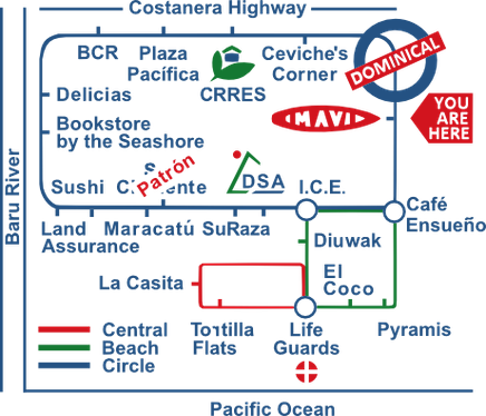 Dominical Mavi Hotel map