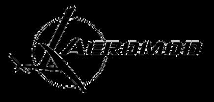 logo aeromod avec un windfoil dans un cercle