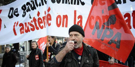 Fagforeningsaktivist Philippe Poutou, kandidat for NPA
