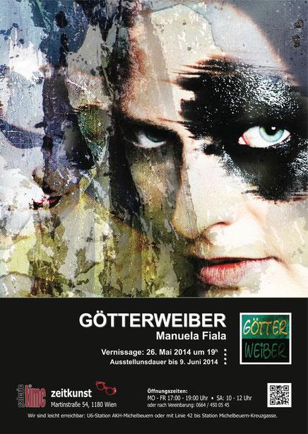 Galerie Time Günther Wachtl Manuela Fiala Grüne Fotoausstellung Götterweiber