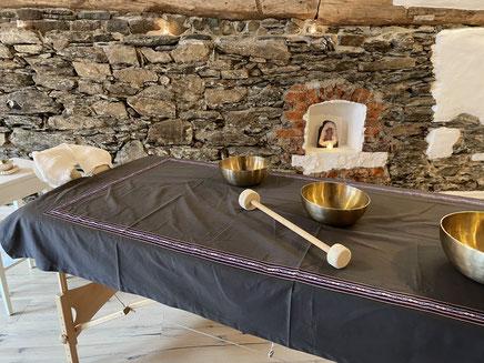 Gong und Klangschalenset