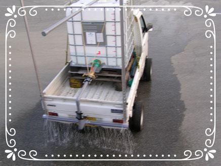 【楽輪』スタッドレス8本八輪型 散水