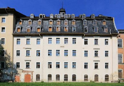 Spinnmühle der Baumwollspinnerei Flöha/Plaue in Palastarchitektur von 1809