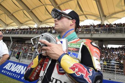 Sepang - Stefan Bradl vor dem Start.