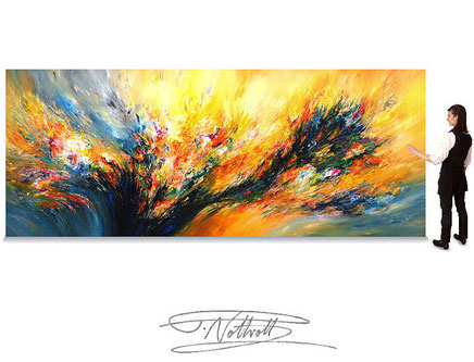 extra large XXXL-paintings, abstract artwork