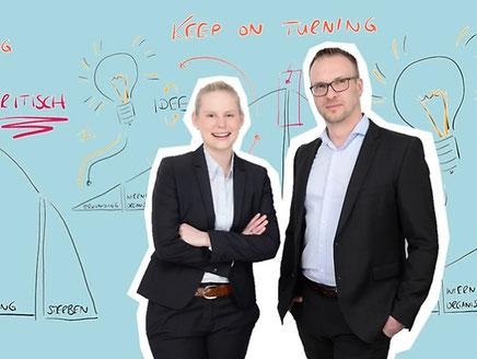 Das Gründerteam: Fzanziska Gütle & Christian Bäumer