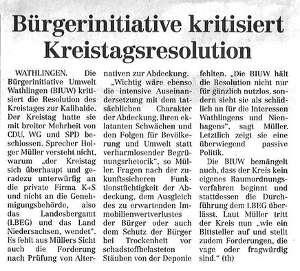 Quelle: Cellesche Zeitung, 25.06.2016