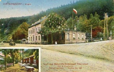 So idyllisch sah es in Dittersdorf um 1905 aus