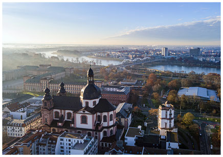 Mannheim, Mannheim Images, Fotodrucke, Thomas Seethaler, Thomas Seethaler Fotografie, Jesuitenkirche Mannheim, Schloss Mannheim