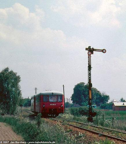 Einfahrt in Herzberg/Mark